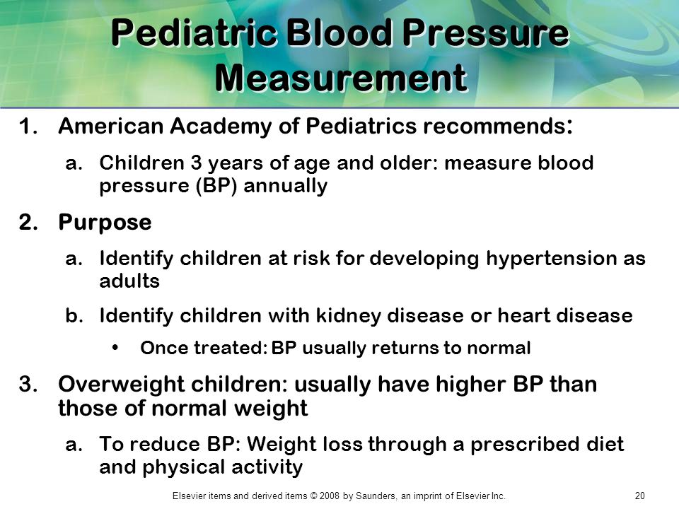 Pediatric Blood Pressure Measurement