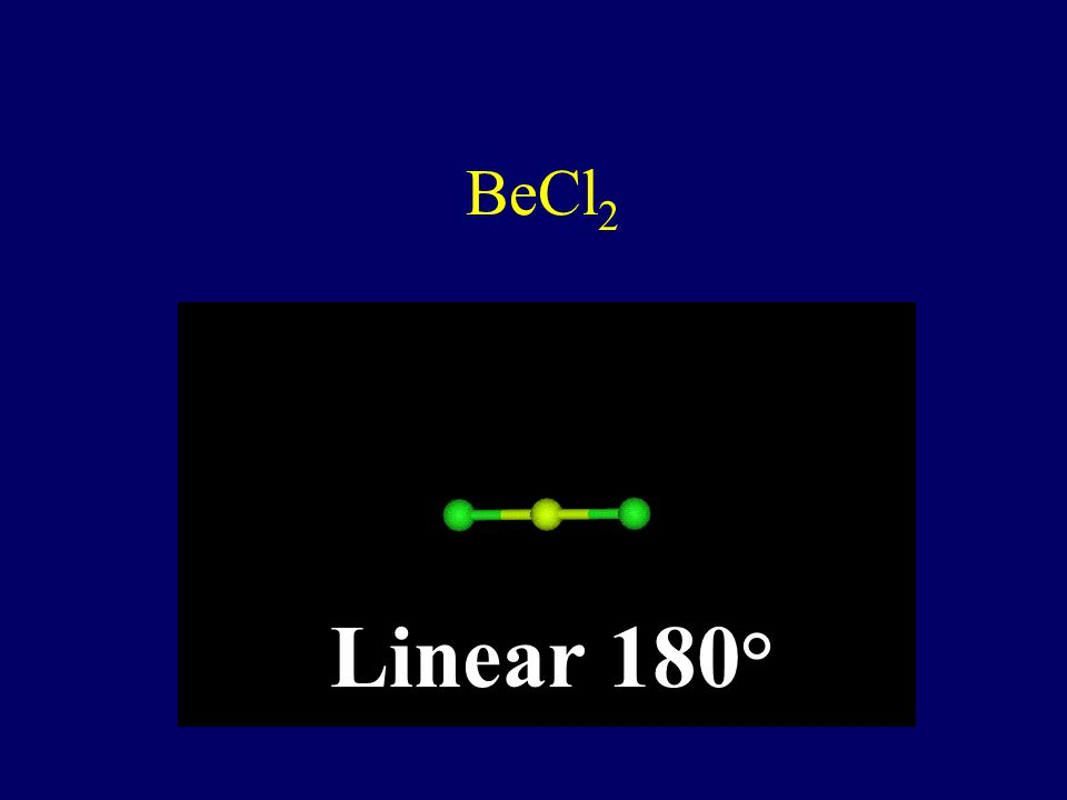 BeCl2 Linear 180°