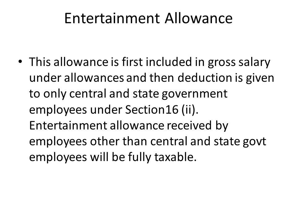Entertainment Allowance