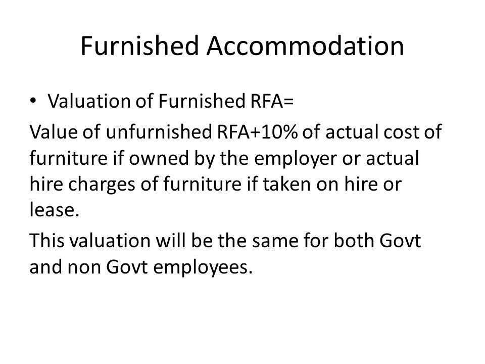 Furnished Accommodation
