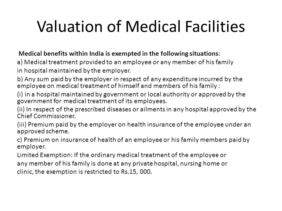 Valuation of Medical Facilities