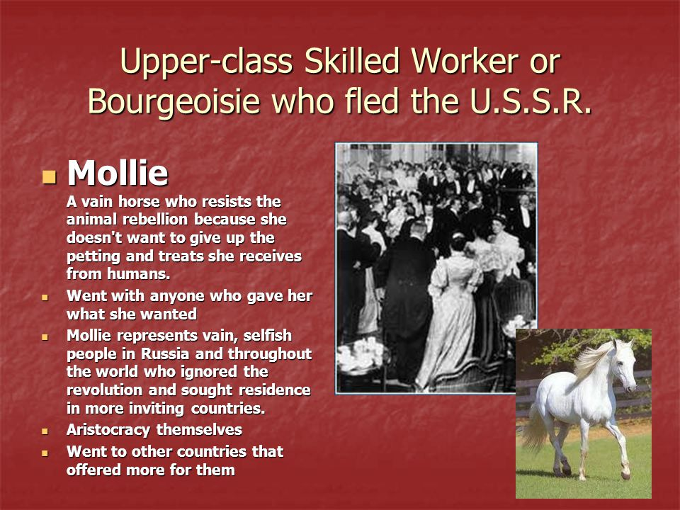 Upper-class Skilled Worker or Bourgeoisie who fled the U.S.S.R.