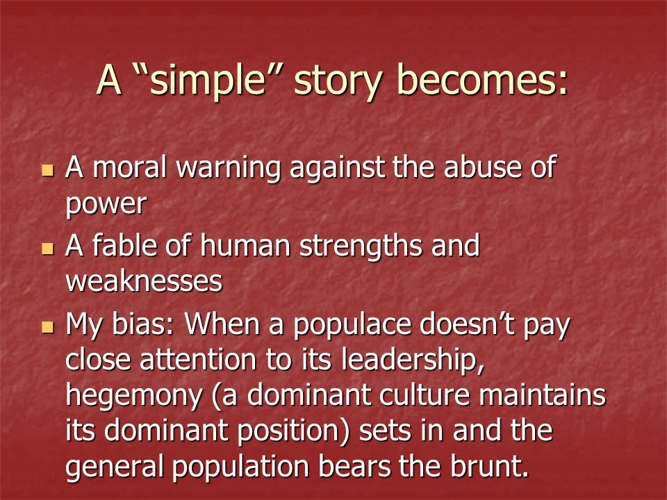 the theme of abuse of power in animal farm by george orwell George orwell presents direct  abuse of power  through the illustration of the cunning and brute force napoleon used to gain and maintain power on animal farm.