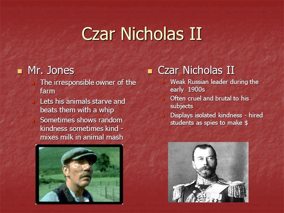 Czar Nicholas II Mr. Jones Czar Nicholas II