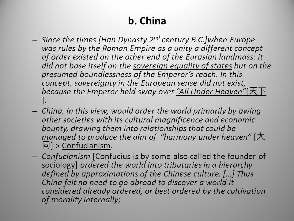 b. China
