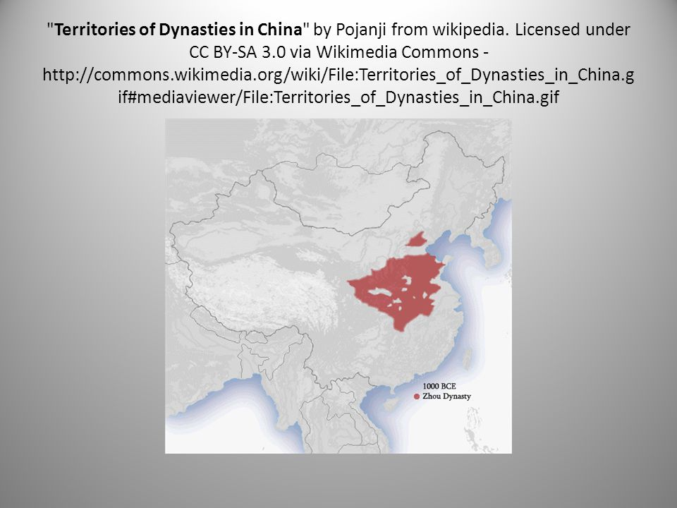 Territories of Dynasties in China by Pojanji from wikipedia