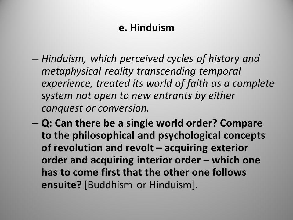 e. Hinduism
