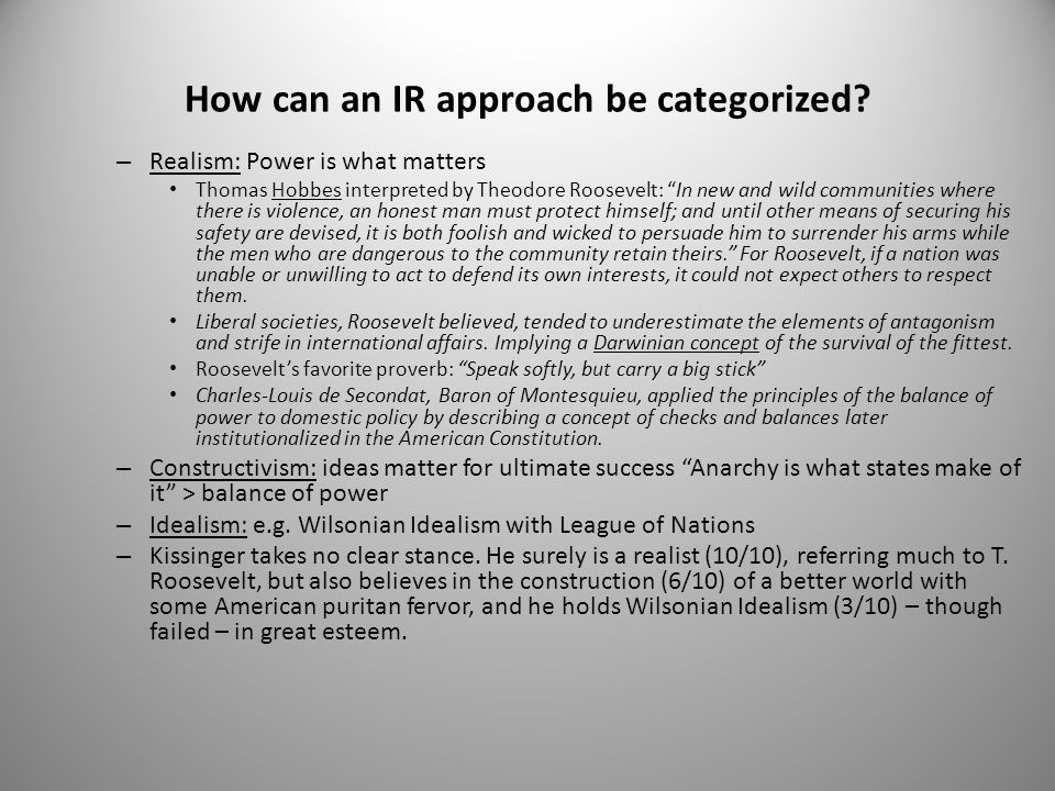 How can an IR approach be categorized