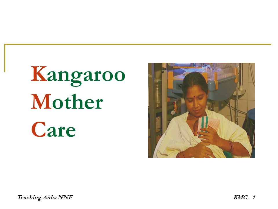 Kangaroo Mother Care Teaching Aids: NNF KMC-
