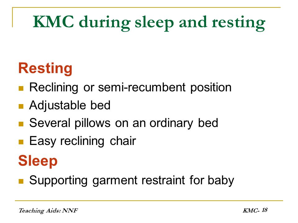 KMC during sleep and resting