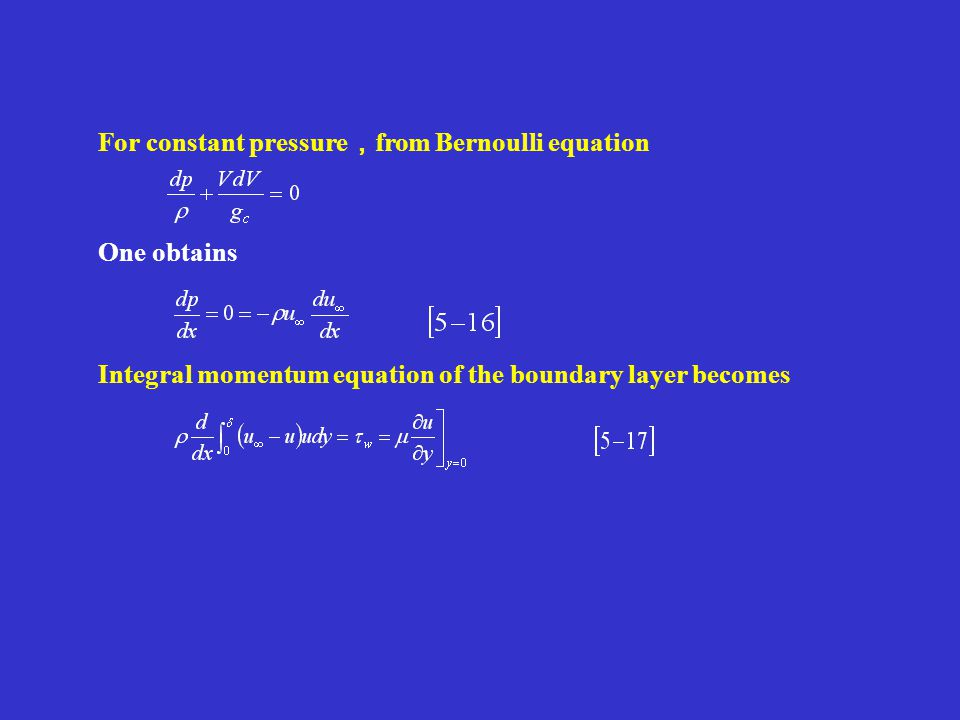 For constant pressure,from Bernoulli equation