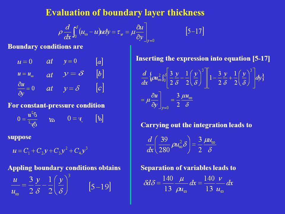 Evaluation of boundary layer thickness
