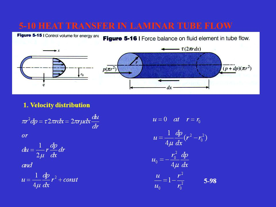 5-10 HEAT TRANSFER IN LAMINAR TUBE FLOW