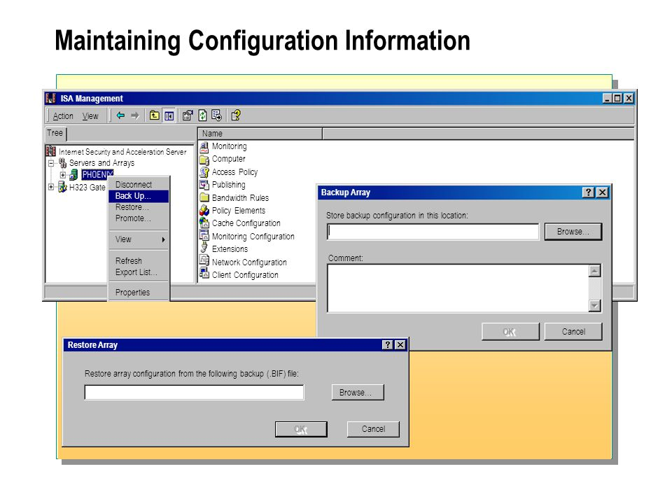 Maintaining Configuration Information