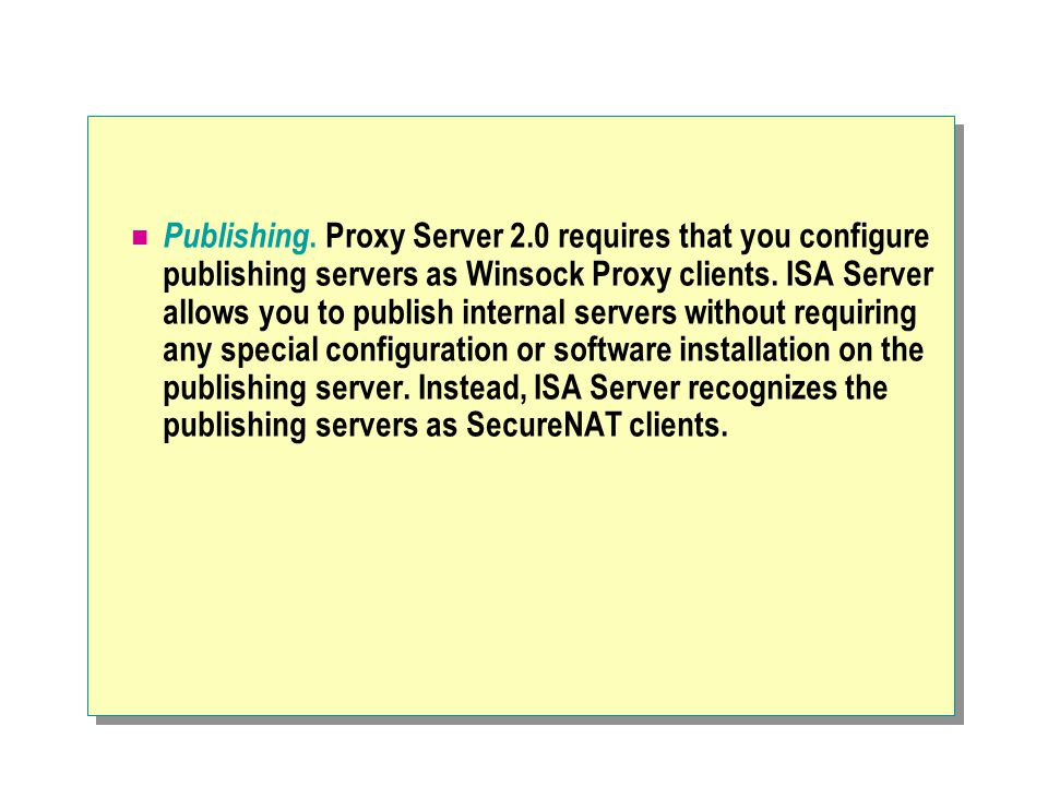 Publishing. Proxy Server 2