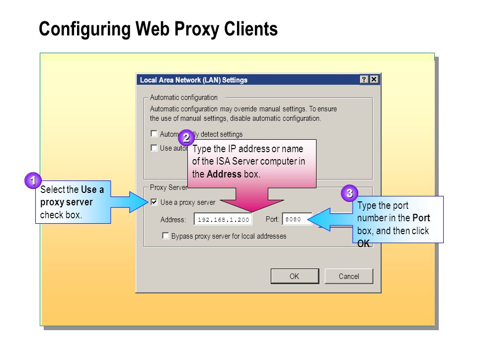Configuring Web Proxy Clients