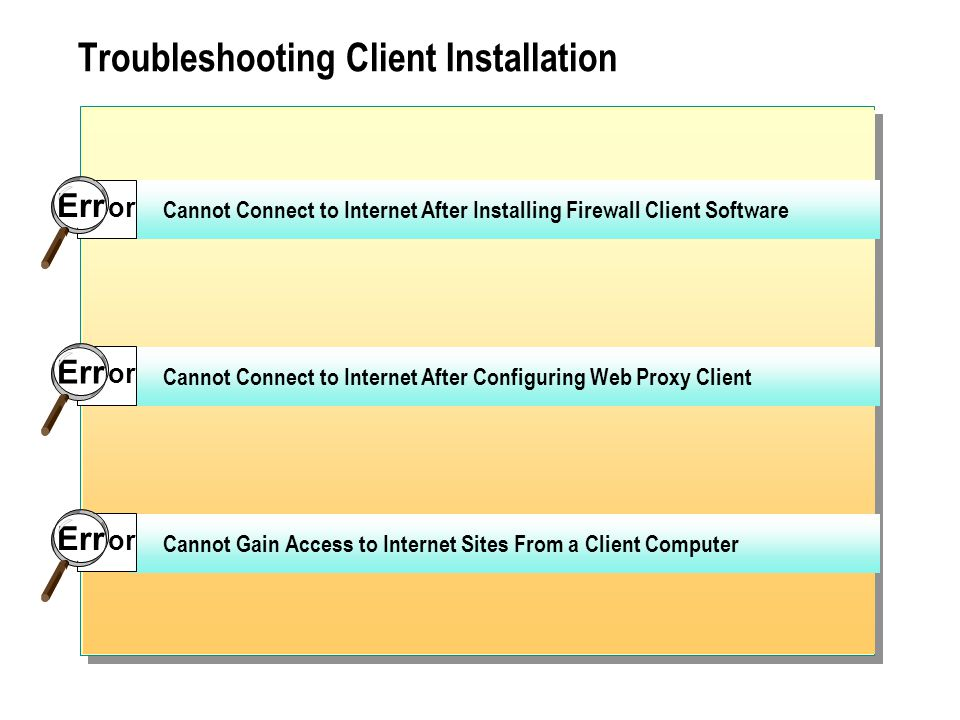 Troubleshooting Client Installation