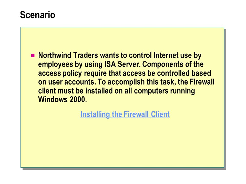 Installing the Firewall Client