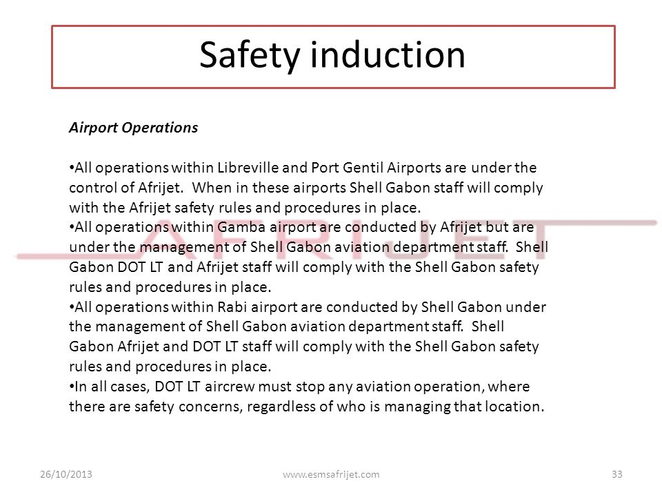 Safety induction Airport Operations