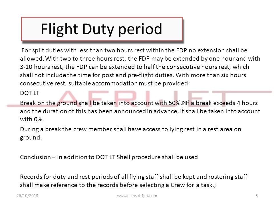 Flight Duty period