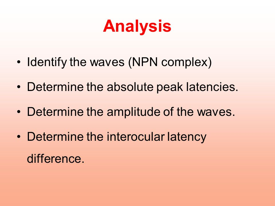 Analysis Identify the waves (NPN complex)
