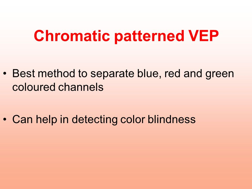Chromatic patterned VEP