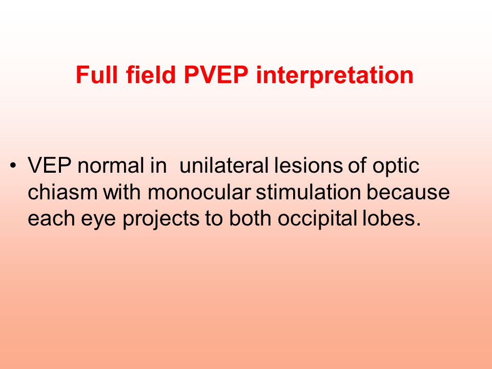 Full field PVEP interpretation