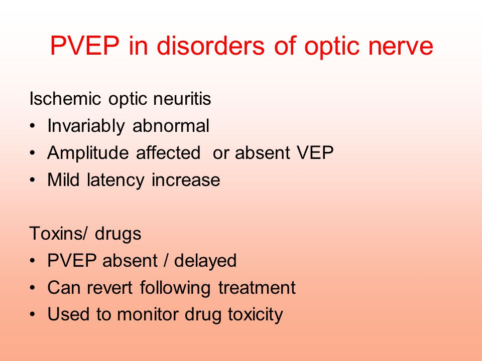 PVEP in disorders of optic nerve