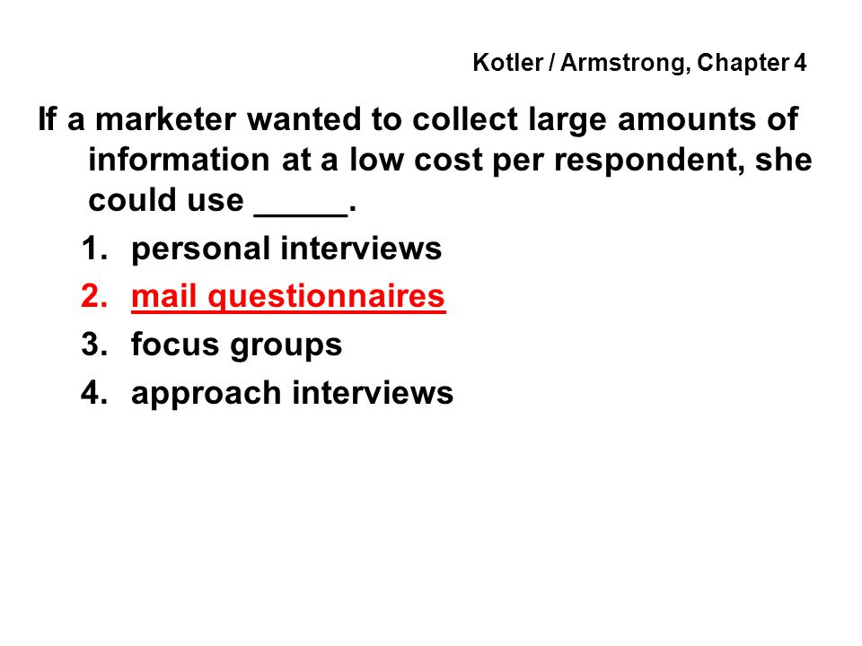 Kotler / Armstrong, Chapter 4