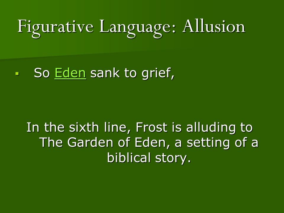 Figurative Language: Allusion