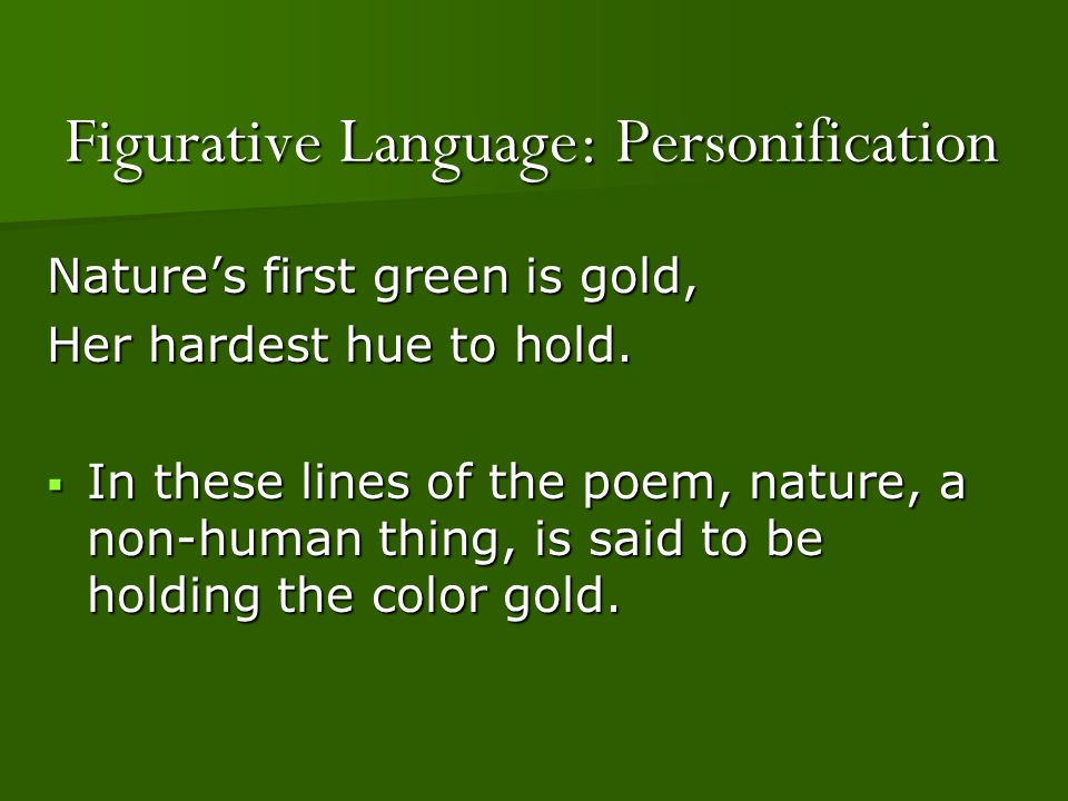 Figurative Language: Personification