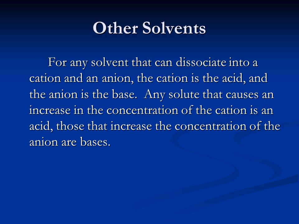 Other Solvents