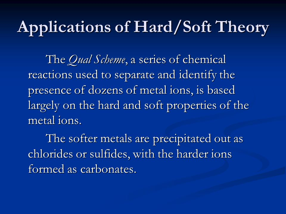 Applications of Hard/Soft Theory