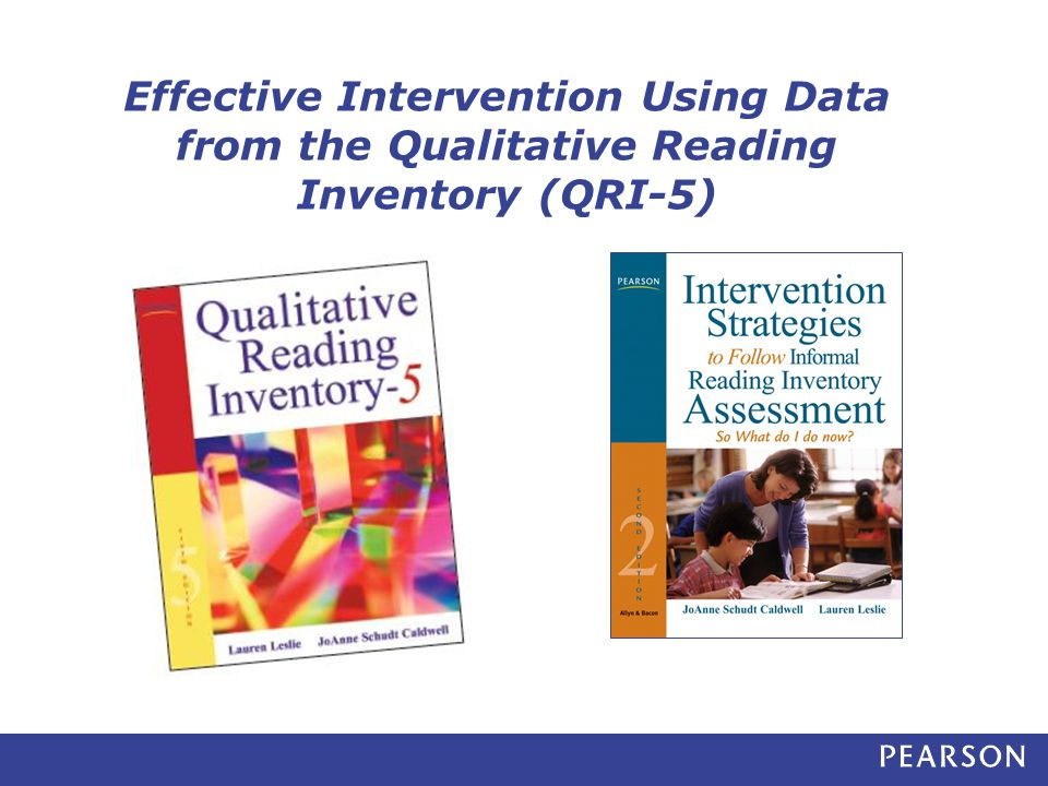 Effective Intervention Using Data from the Qualitative Reading Inventory (QRI-5)