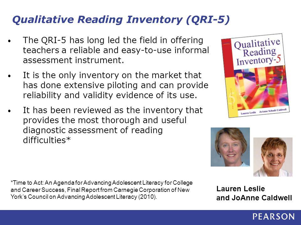 Qualitative Reading Inventory (QRI-5)