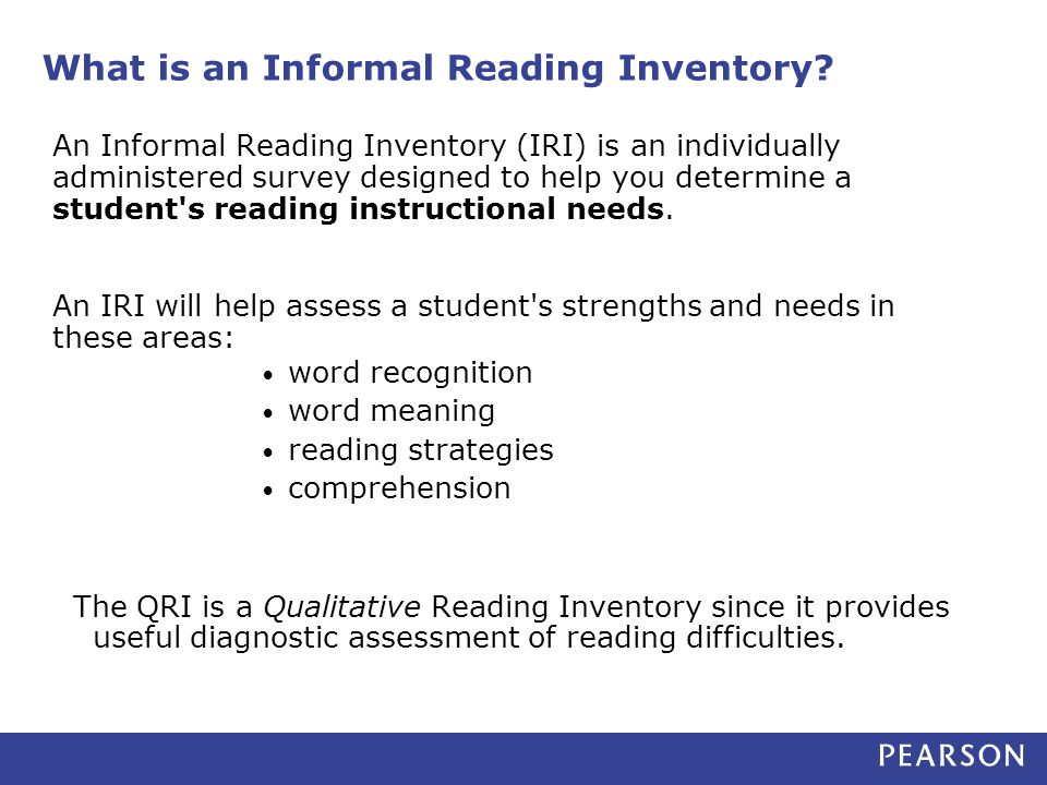 What is an Informal Reading Inventory