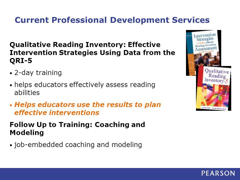 Current Professional Development Services