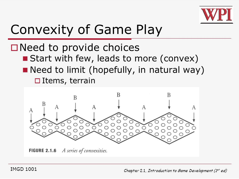 Convexity of Game Play Need to provide choices