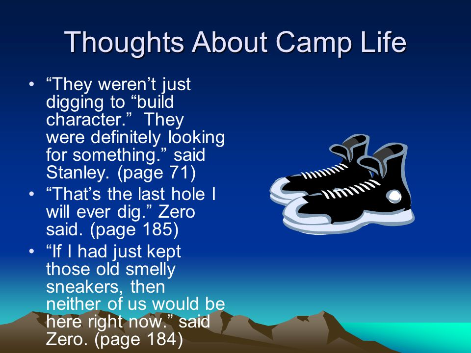 Thoughts About Camp Life