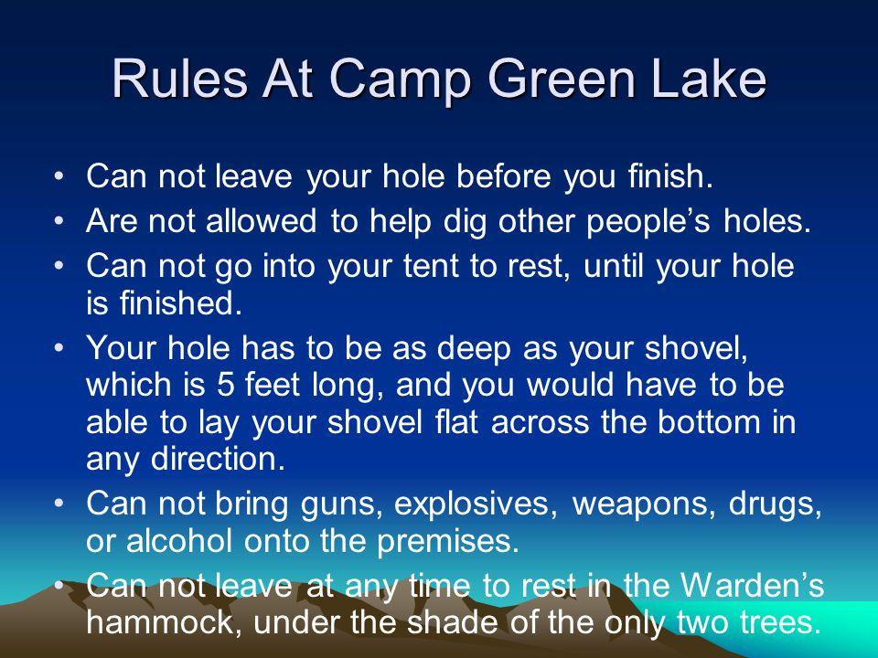 Rules At Camp Green Lake