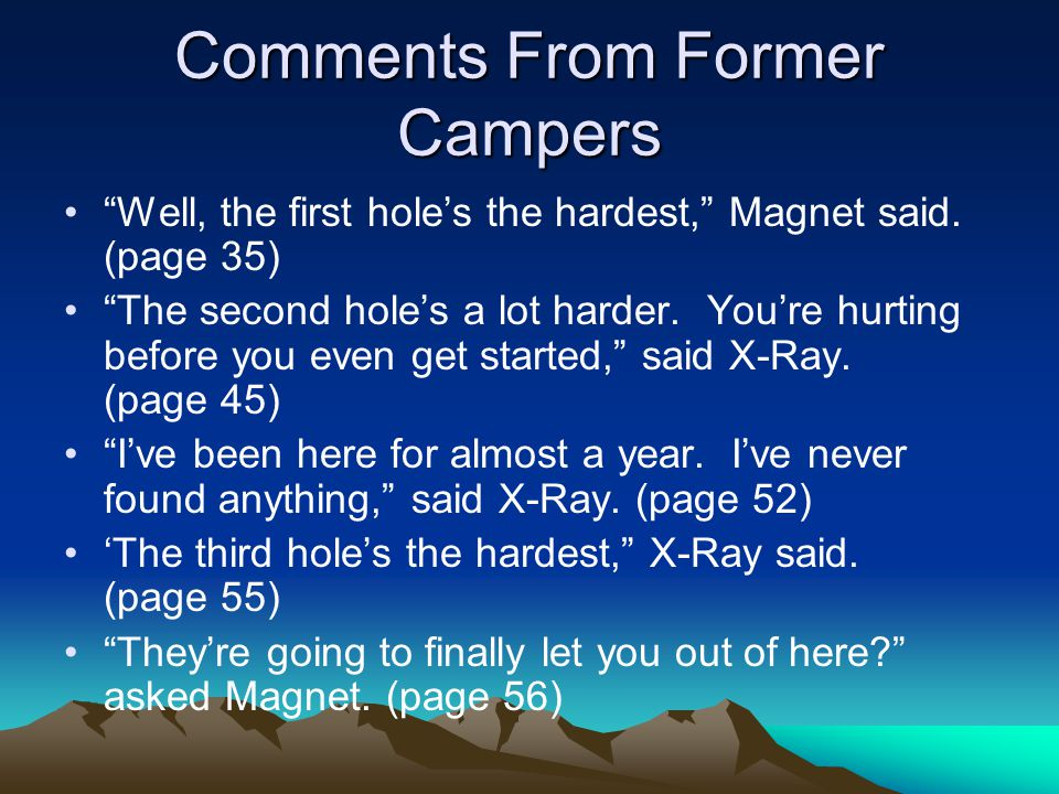 Comments From Former Campers