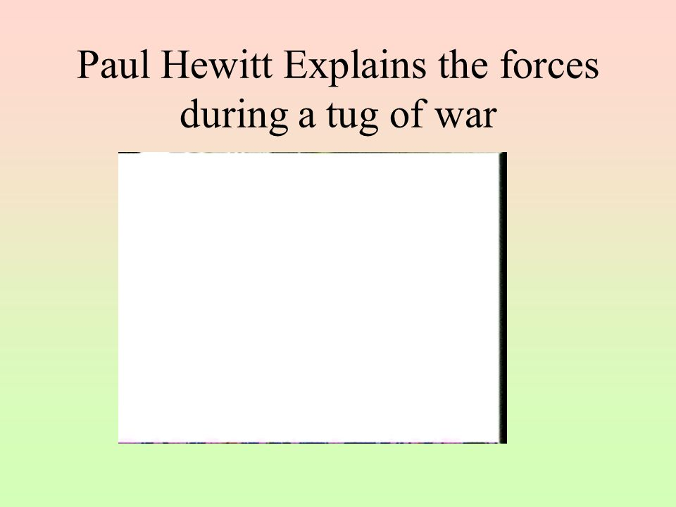 Paul Hewitt Explains the forces during a tug of war
