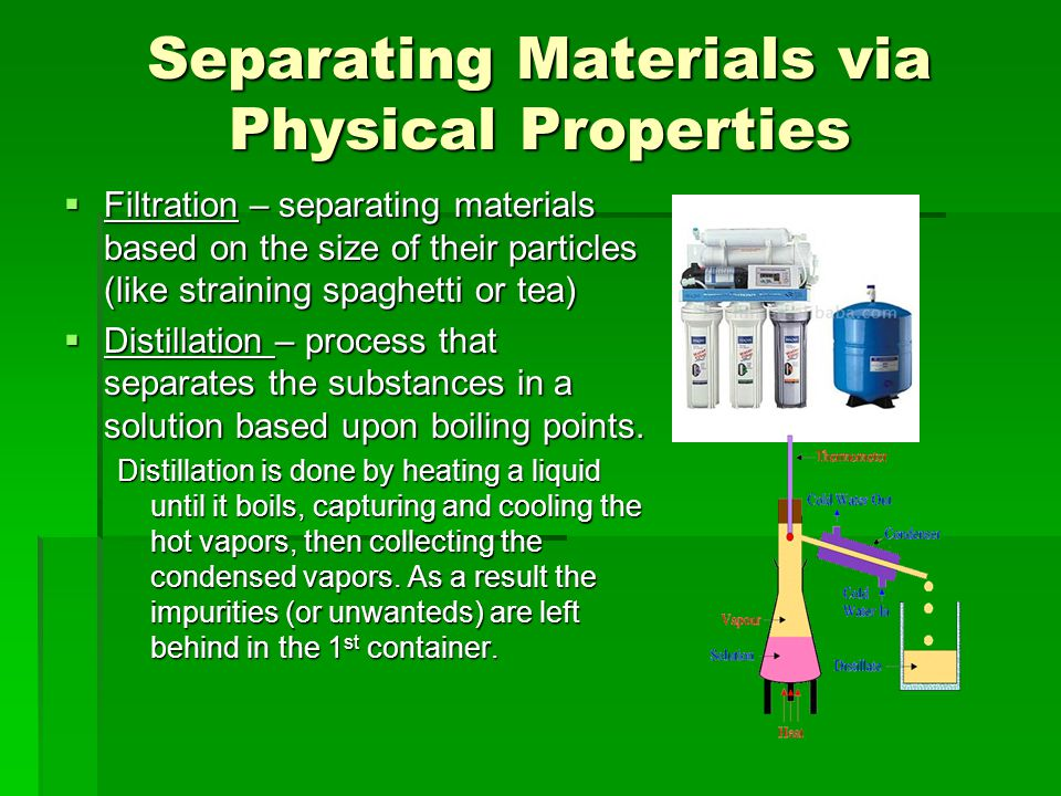 Separating Materials via Physical Properties