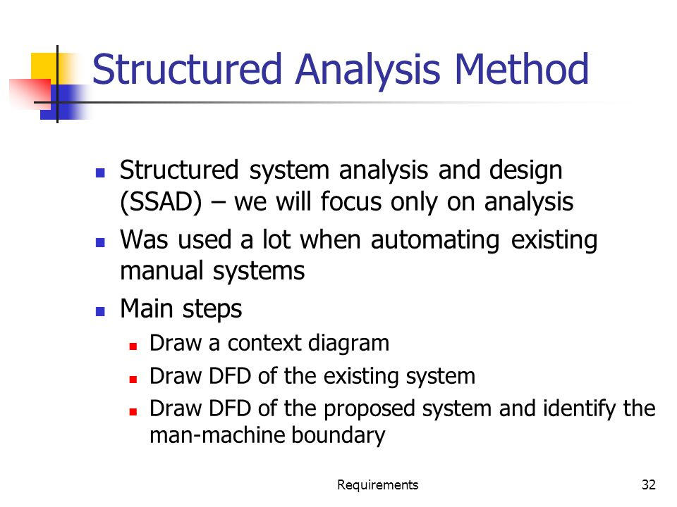 Structured Analysis Method