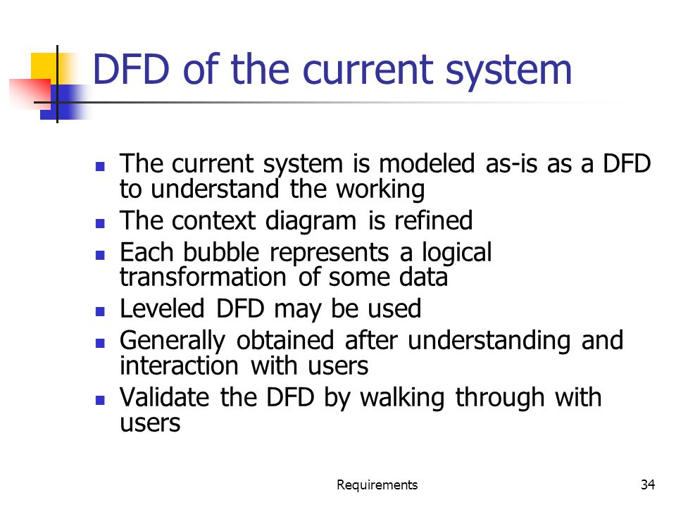 DFD of the current system