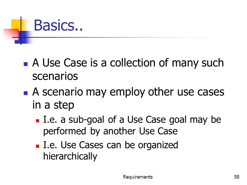 Basics.. A Use Case is a collection of many such scenarios