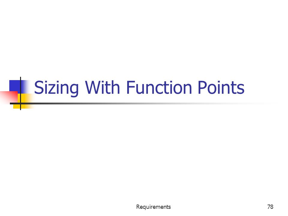 Sizing With Function Points