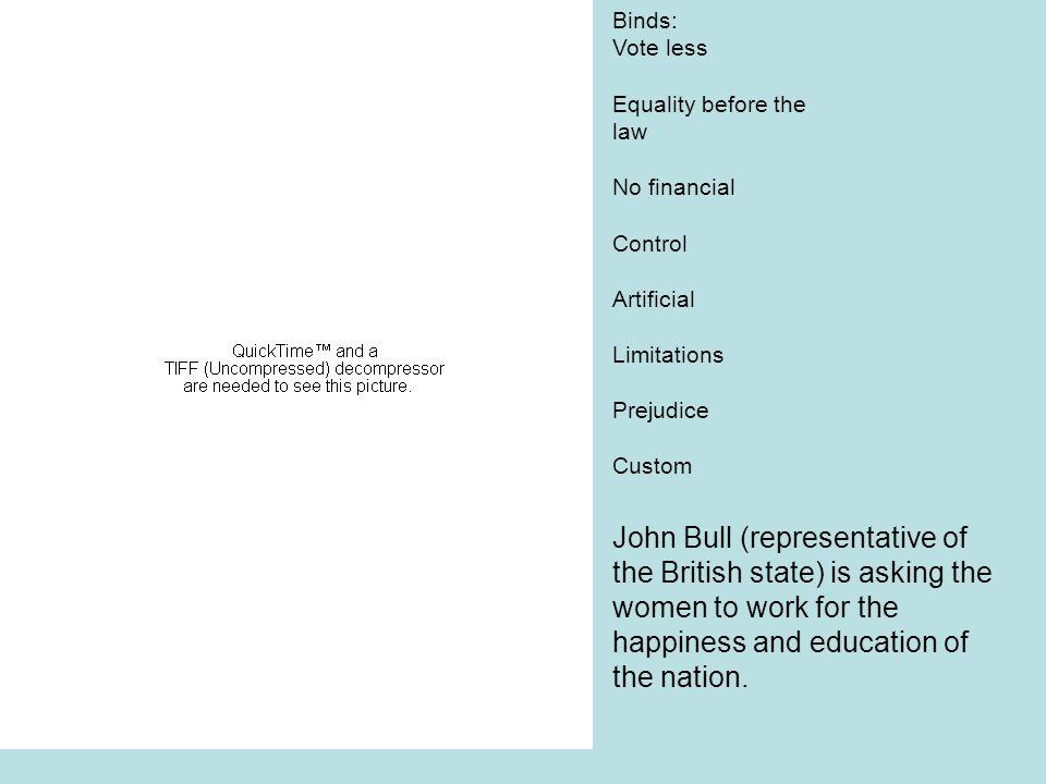 John Bull (representative of the British state) is asking the
