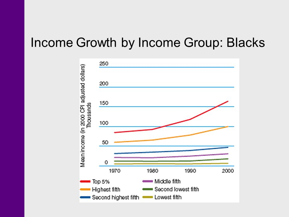 Income Growth by Income Group: Blacks