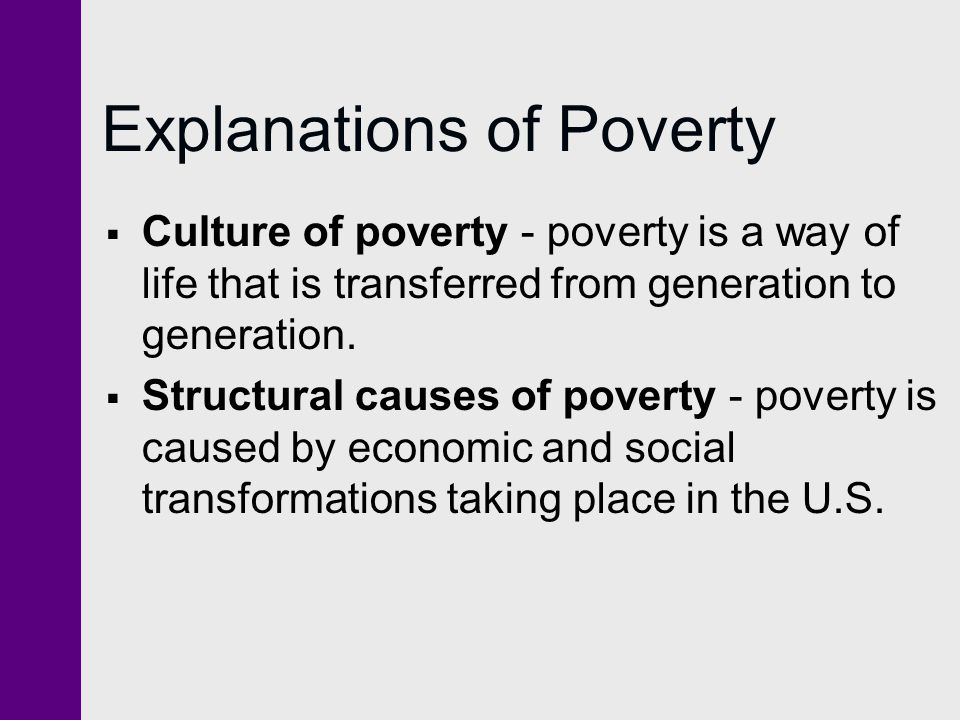 Explanations of Poverty
